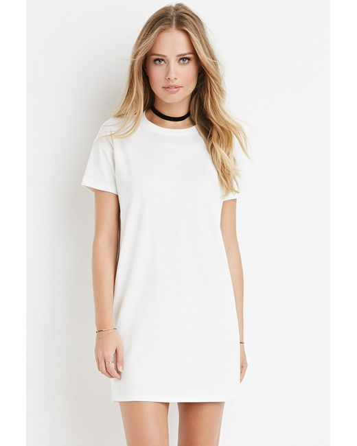Forever 21 | Natural T-shirt Dress | Lyst