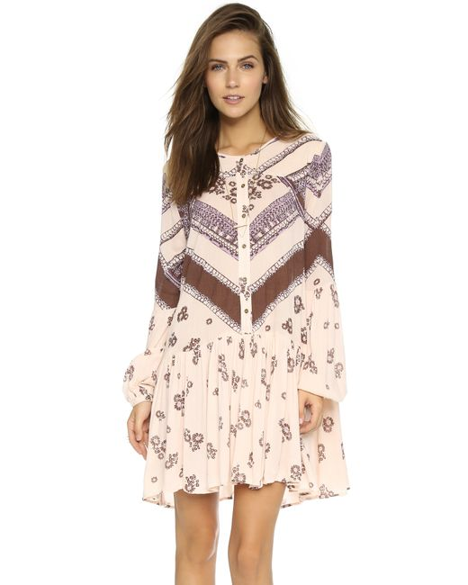 Free People | Multicolor From Your Heart Smock Dress | Lyst