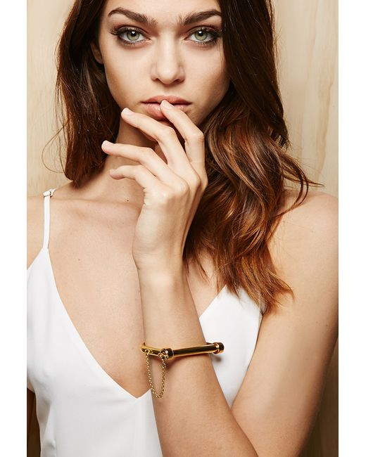 Forever 21 | Metallic Amber Sceats Lock Bangle | Lyst
