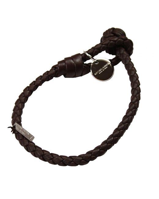 Bottega Veneta | Brown Intrecciato Single-knot Bracelet for Men | Lyst