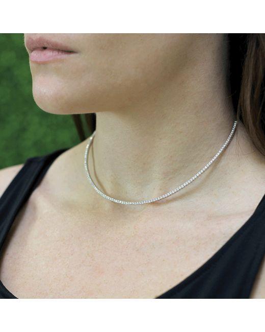 Mattia Cielo | Metallic Rugiada Tennis Diamond Necklace | Lyst