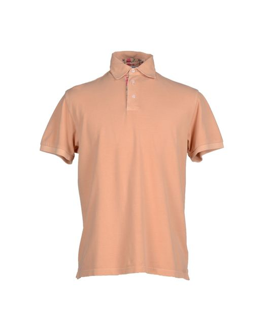 Acquapura Polo Shirt In Orange For Men Salmon Pink Lyst