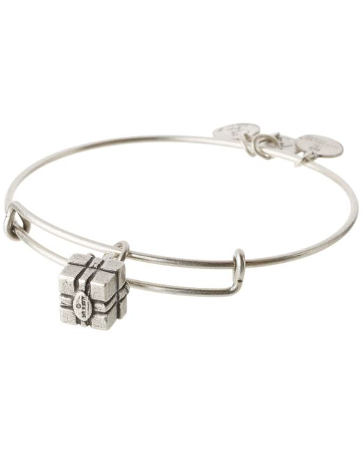 ALEX AND ANI | Metallic Gift Box Charm Bangle | Lyst