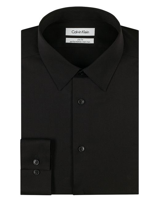 Calvin Klein | Black Slim Fit Dress Shirt for Men | Lyst
