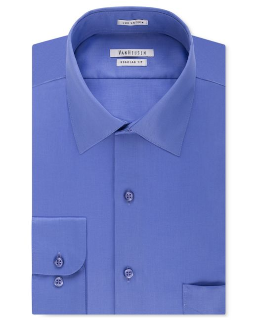 van heusen men 39 s big and tall solid dress shirt in blue