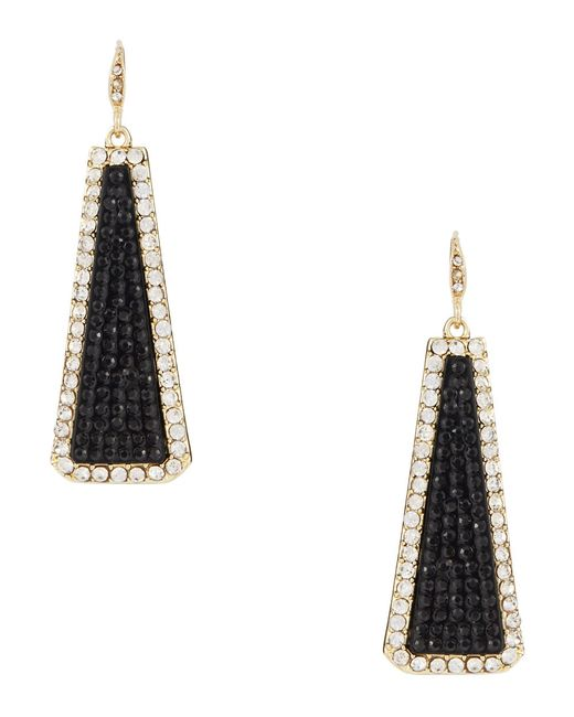 ABS By Allen Schwartz | Black Drop Earrings | Lyst