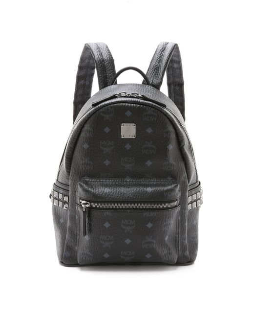 MCM | Black Visetos Medium Stark Backpack | Lyst