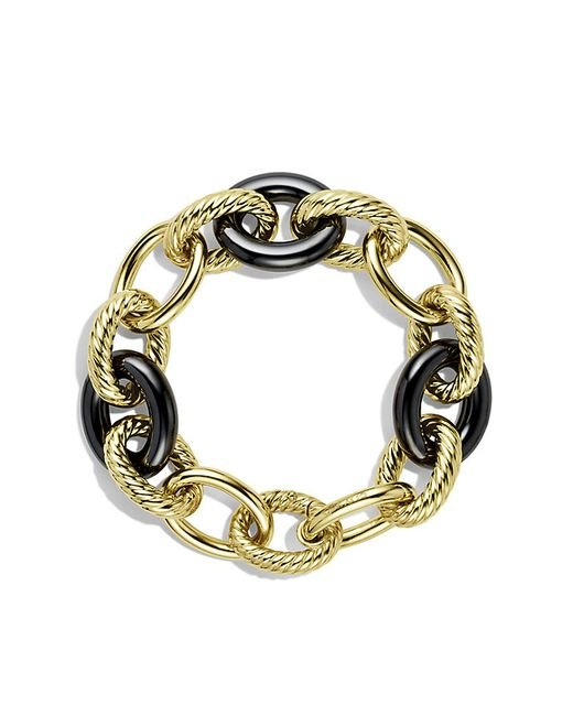 david yurman oval link bracelet david yurman oval large link bracelet in gold in 7612