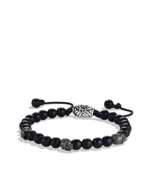 David Yurman | Spiritual Beads Skull Bracelet with Black Onyx for Men | Lyst
