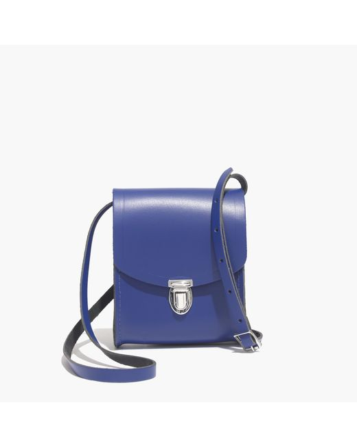 Madewell | Blue The Cambridge Satchel Company® Mini Push Lock Crossbody Bag | Lyst