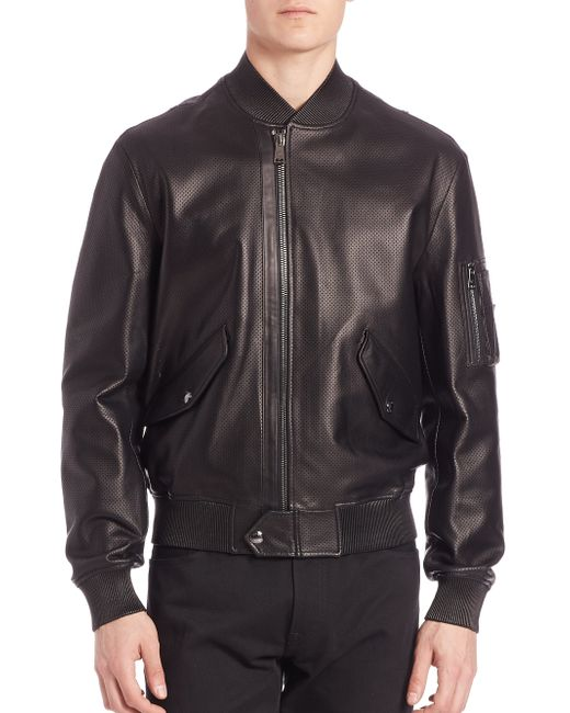 Pink pony purple label airman bomber jacket in black for for Black ralph lauren shirt purple horse