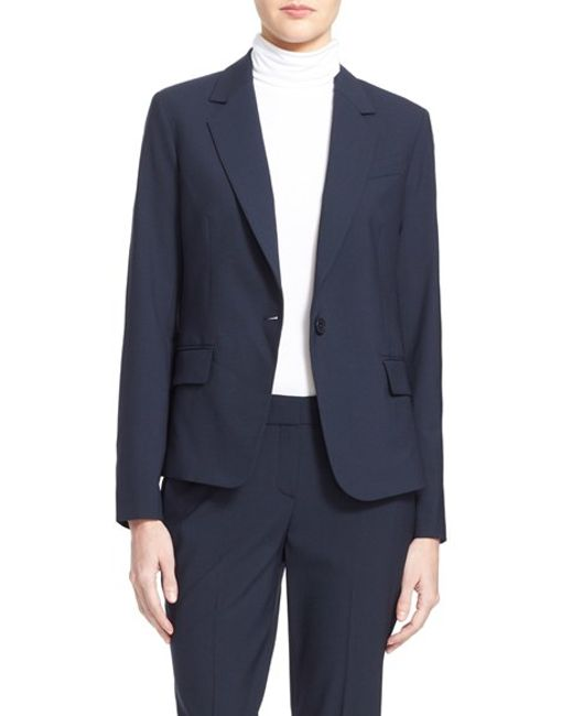 Theory | Blue Gabe Stretch-Wool Blazer | Lyst