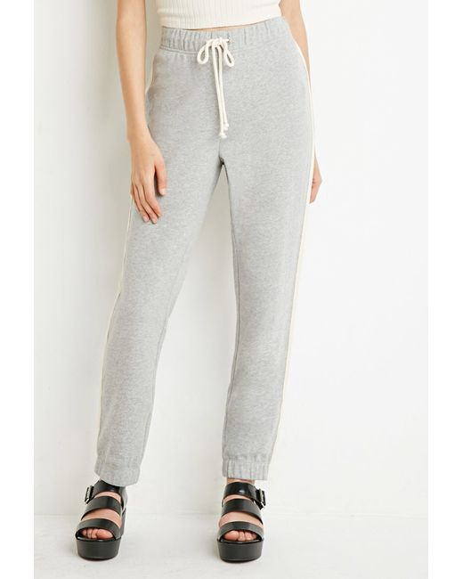 Forever 21 | Gray Contrast-striped Joggers | Lyst