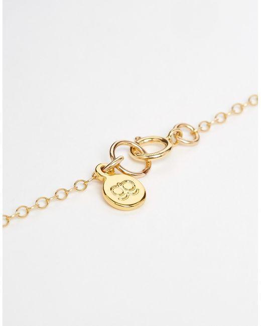 Gorjana | Metallic Cara Plate Necklace - Gold | Lyst