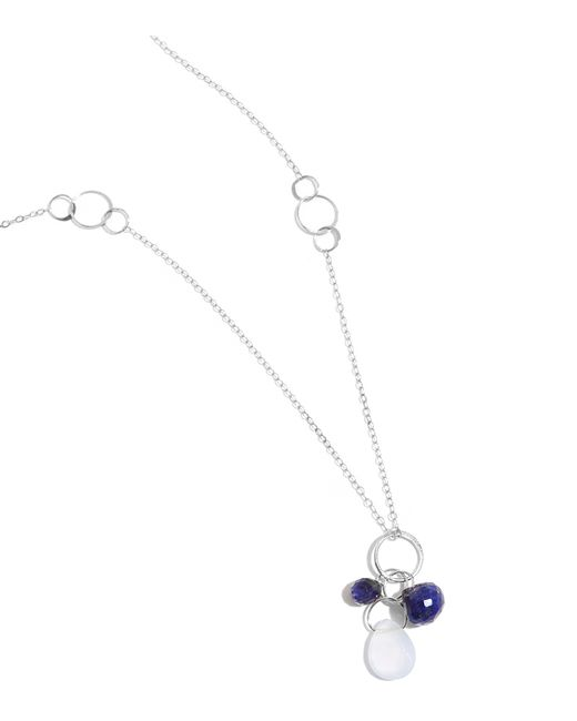 Melissa Joy Manning | Metallic Iolite, Lapis, And Blue Chalcedony Drop Necklace | Lyst
