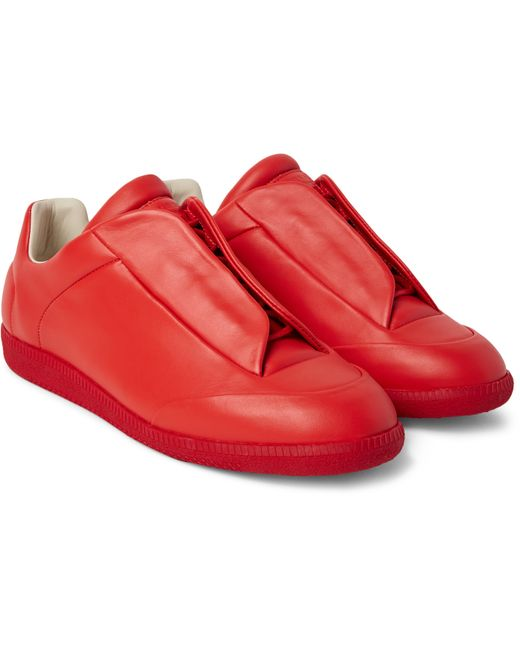 Maison Margiela | Red Future Soft Leather Sneakers for Men | Lyst