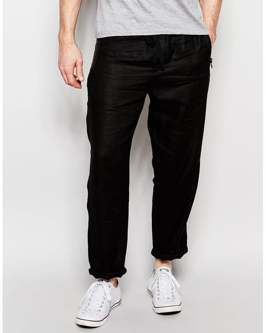 Black skinny fit joggers Jersey fabric Slim fit Back and side slip pockets Drawstring waistband Our model wears a UK 32 regular and is cm/6''' tall. Black skinny fit joggers Jersey fabric Slim fit Back and side slip pockets Drawstring waistband Our model wears a UK 32 regular and is .