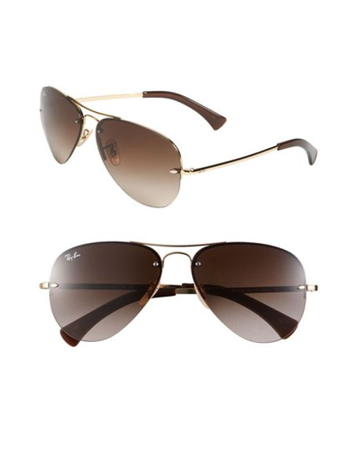 e63bd87259 ... discount code for ray ban sunglasses 3214 rimless aviator b3fd7 ea724  ...