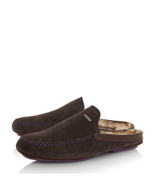 Dune Parkor Warm Lined Mule Slippers In Brown For Men Lyst