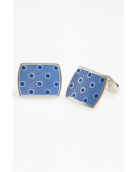 David Donahue | Blue Polka Dot Cuff Links for Men | Lyst