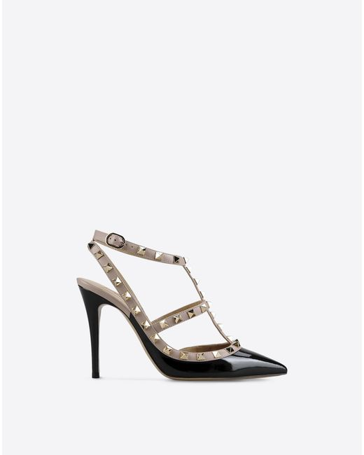Valentino | Black Rockstud Studded Leather Pumps | Lyst