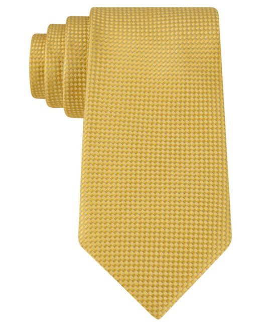 Michael Kors | Yellow Rene Semi Solid Tie for Men | Lyst