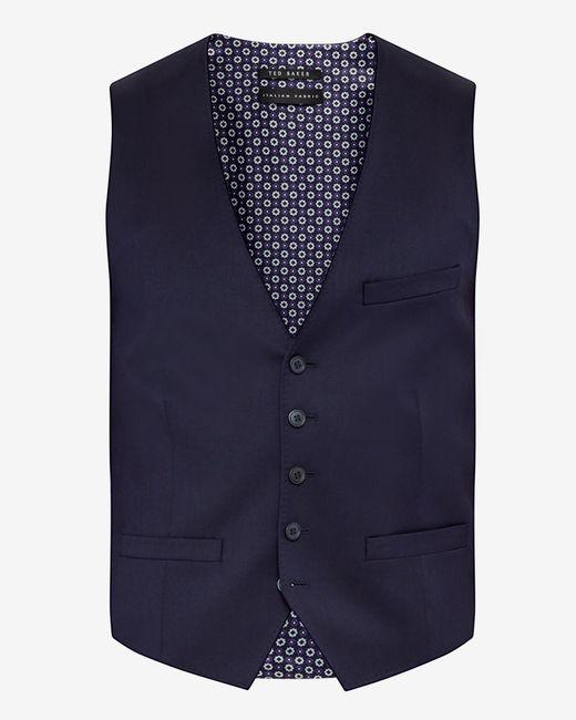 Ted baker Debonair Wool Waistcoat in Blue for Men (Dark ...