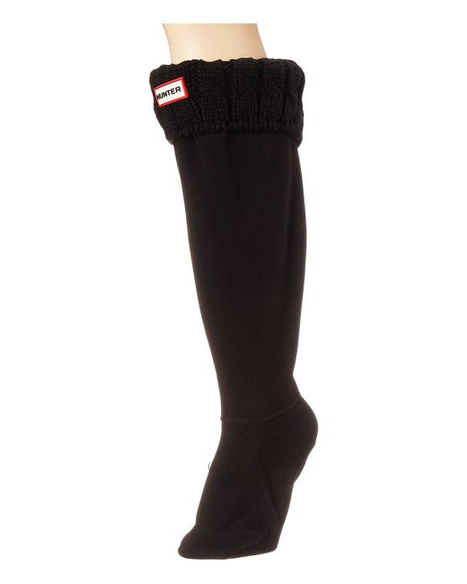 Hunter | Black 6 Stitch Cable Boot Sock | Lyst