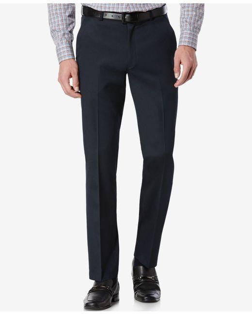 Perry ellis portfolio slim fit no iron flat front dress for No iron slim fit dress shirts