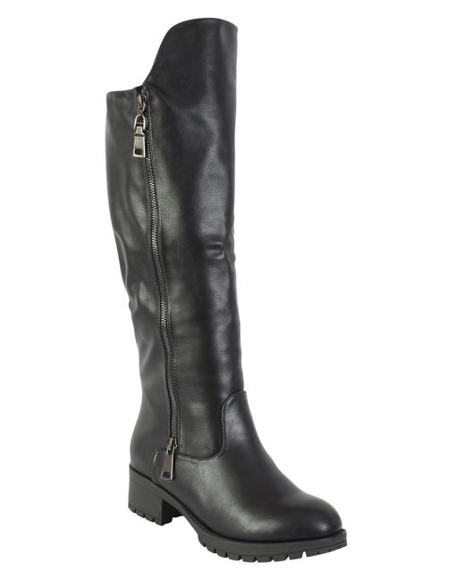 betsy chunky knee high boot in black lyst