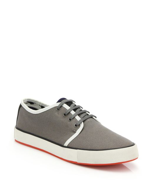 paul smith lomeli canvas sneakers in gray for grey
