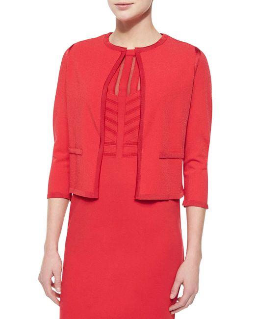 ESCADA | Red Knit-trimmed Open Cardigan | Lyst