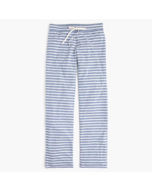 J.Crew | White Petite Dreamy Cotton Pant In Stripe | Lyst