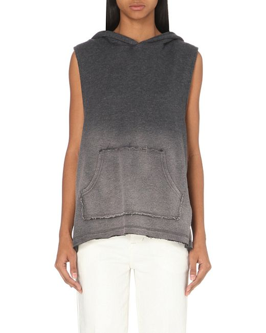 Free People | Gray French Terry Sleeveless Sweatshirt | Lyst