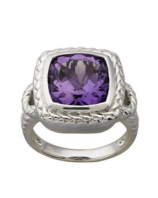 Lord & Taylor | Sterling Silver Purple Amethyst Red Box Ring | Lyst