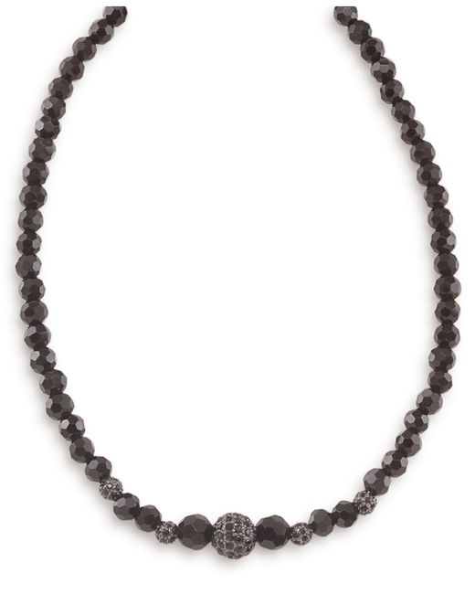 Carolee | Black Faceted Jet Crystal Necklace | Lyst