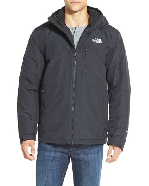 The North Face | Black 'gordon Lyons' Triclimate Waterproof Hooded 3-in-1 Jacket for Men | Lyst