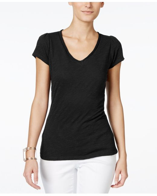INC International Concepts | Black V-neck T-shirt, Only At Macy's | Lyst