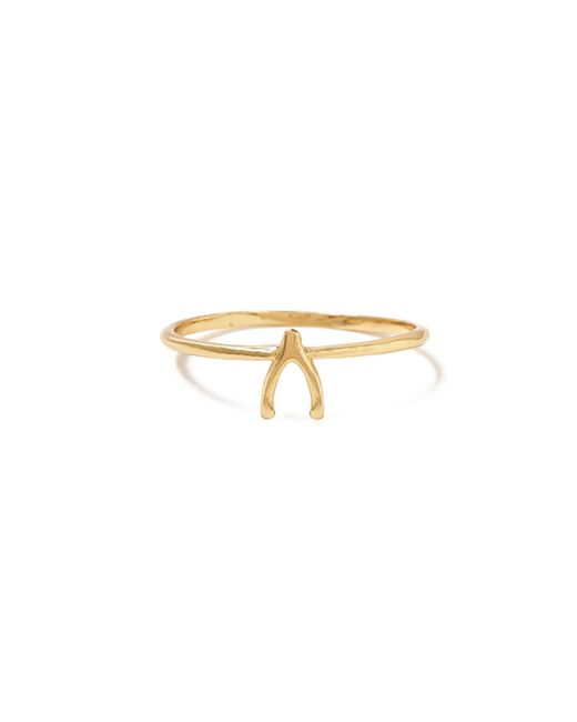 Bing Bang | Yellow Wishbone Ring | Lyst