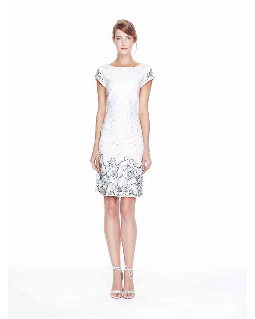 Marchesa white cocktail dresses