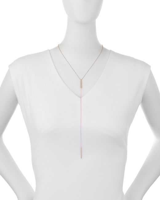 EF Collection | Pink Jumbo Bar Diamond Lariat Necklace | Lyst