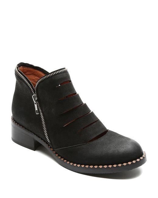 Gentle Souls | Black Bailey Nubuck Leather Booties | Lyst