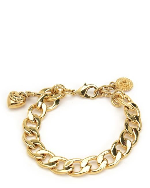 juicy couture mini charm bracelet in gold juicy gold lyst
