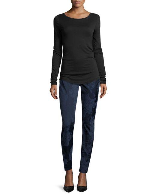 Jen7 | Blue Night Floral Jacquard Skinny Jeans | Lyst