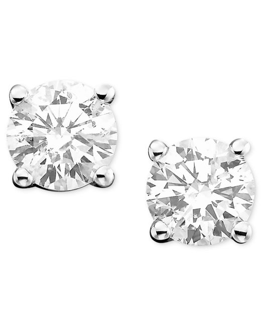Macy's | Metallic 10k Gold Crystal Accent Ball Stud Earrings | Lyst