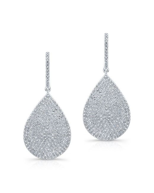 Anne Sisteron - Multicolor 14kt White Gold Diamond Large Pear Shaped Earrings - Lyst
