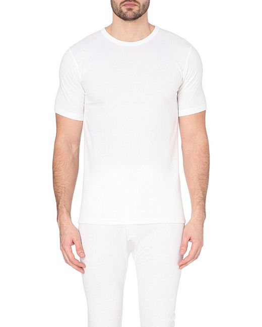 Sunspel thermal t shirt in white for men save 8 lyst for White thermal t shirt