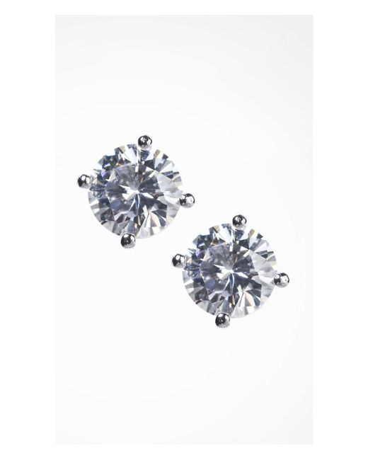 Express | Metallic Cubic Zirconia Stud Earrings | Lyst
