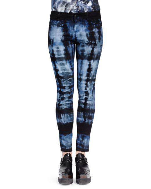 Stella Mccartney Tie Dye Skinny Ankle Jeans In Blue Save