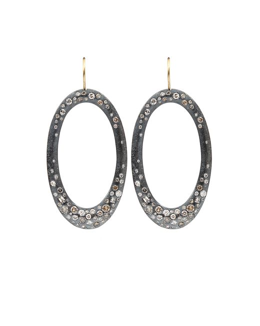 Todd Reed | Metallic Diamond Pave Drop Earrings | Lyst